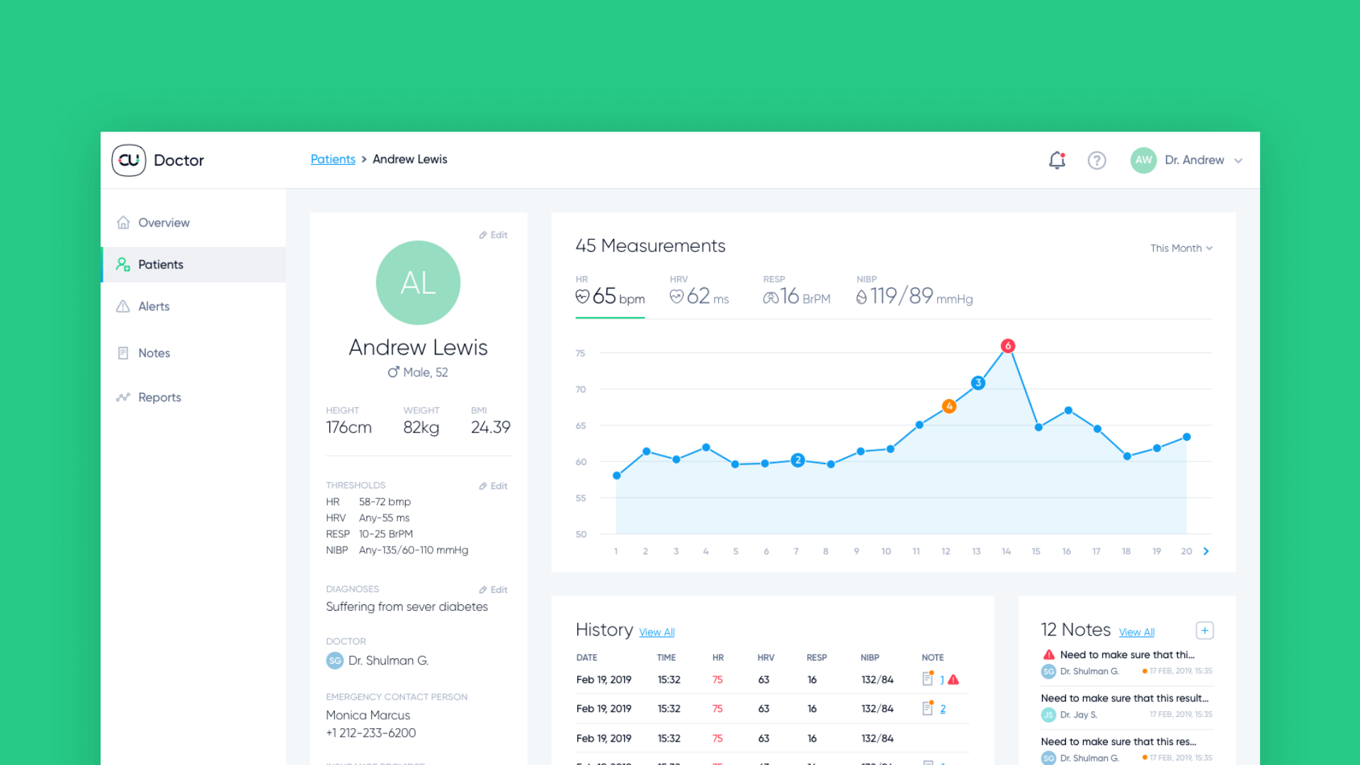 Donisi Health doctor console dashboard ux ui