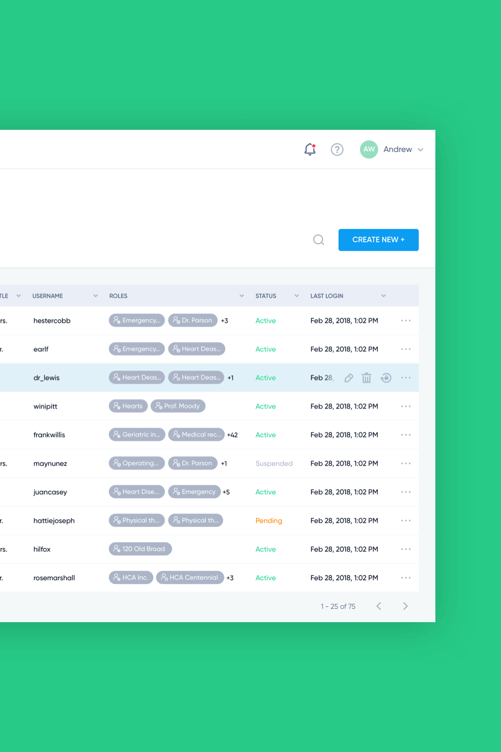 Donisi Health doctor console ux ui