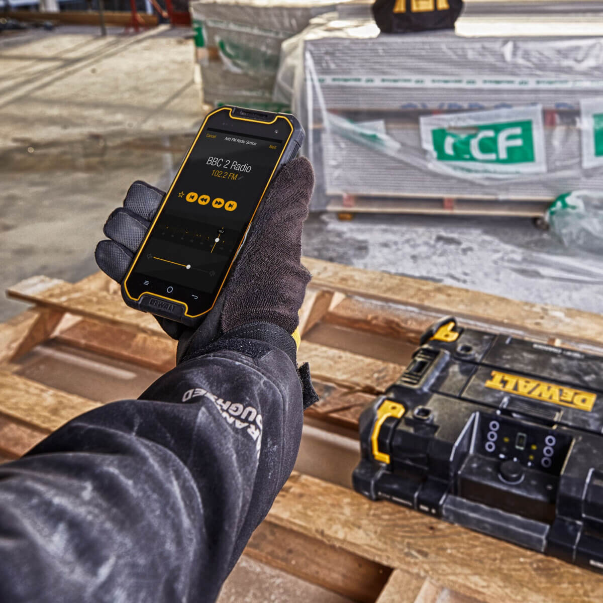 Dewalt Radio Connect device mobile app